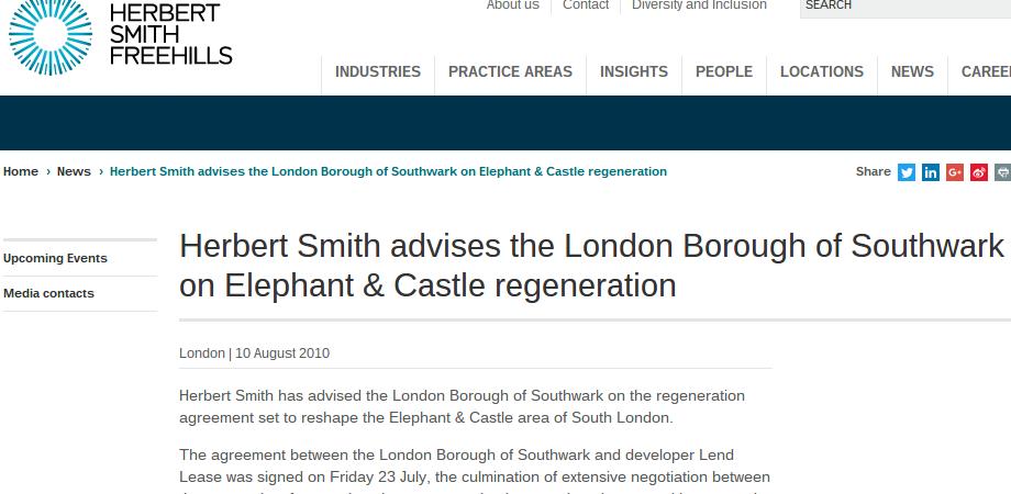 Herbert Smith Freehills website